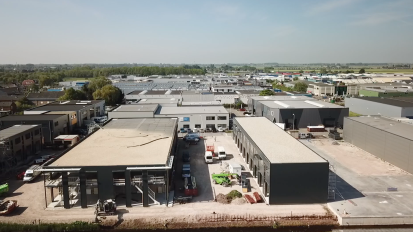 Drone-opnames nieuwbouw project